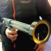 Le pistolet électrostatique de chez Tout en couleurs (TEC), spécialiste en peinture électrostatique sur site
