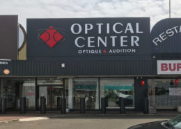 Optical Center après intervention peinture électrostatique